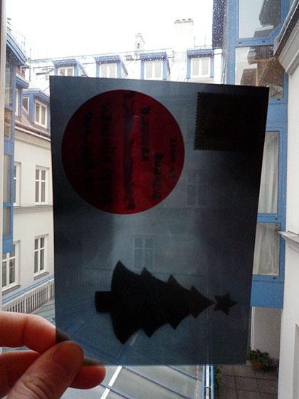 Die Weihnachtskarte mit Rückgrad für 2009